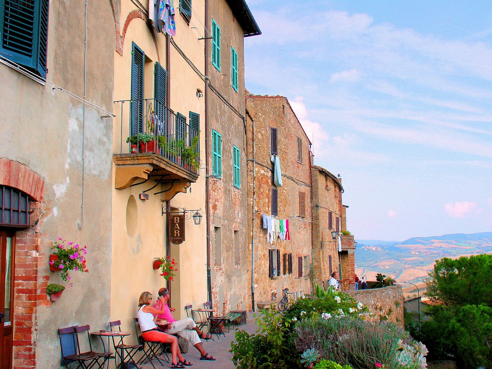 Italy Tuscany Pienza Landscape Of Village And Valley