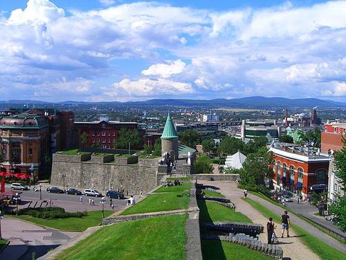 Canada Quebec City Map Canada Quebec Old City Walls