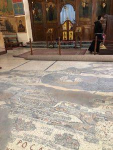 Madaba famous church floor mosaic Jordan