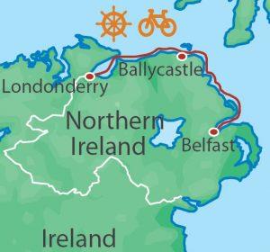 Northern Ireland Bike and Sail NIB map