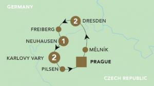 Saxony and Bohemia Christmas Market map